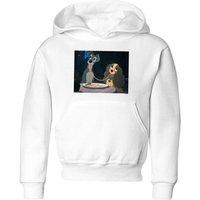 Disney Lady And The Tramp Spaghetti Scene Kids' Hoodie - White - 5-6 Years - White