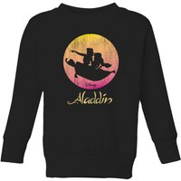 Disney Aladdin Flying Sunset Kids' Sweatshirt - Black - 11-12 Years - Black