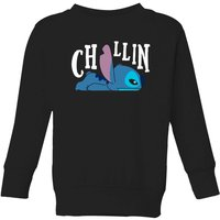 Disney Lilo And Stitch Chillin Kids' Sweatshirt - Black - 5-6 Years