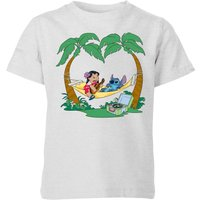 Disney Lilo And Stitch Play Some Music Kids' T-Shirt - Grey - 11-12 Years - Grey - Music Gifts
