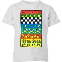 Donald Duck Vintage Pattern Kids' T-Shirt - Grey - 5-6 Years - Grey