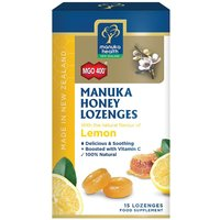 MGO 400+ Manuka Honey Lozenges with Lemon - 15 Lozenges