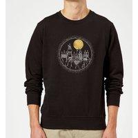 Harry Potter Hogwarts Castle Moon Sweatshirt - Black - S - Black