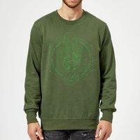 Harry Potter Morsmordre Dark Mark Sweatshirt - Forest Green - S - Forest Green