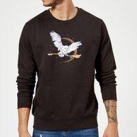 Harry Potter Hedwig Broom Sweatshirt - Black - XL - Black