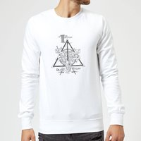 Harry Potter Three Dragons White Sweatshirt - White - XL - White