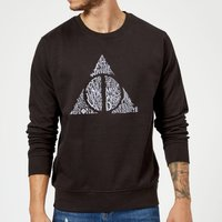 Harry Potter Deathly Hallows Text Sweatshirt - Black - M - Black