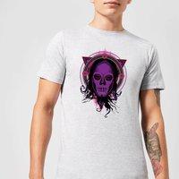 Harry Potter Death Mask 2 Neon Men's T-Shirt - Grey - 3XL - Grey
