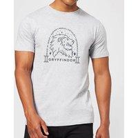 Harry Potter Gryffindor Linework Men's T-Shirt - Grey - 4XL - Grey