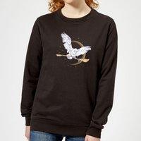 Harry Potter Hedwig Broom Women's Sweatshirt - Black - XXL - Black