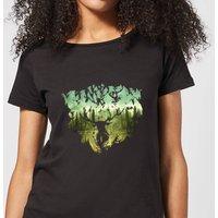 Harry Potter Patronus Lake Women's T-Shirt - Black - M - Black