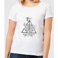 Harry Potter Three Dragons White Women's T-Shirt - White - M - White
