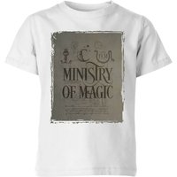 Harry Potter Ministry Of Magic Kids' T-Shirt - White - 11-12 Years - White