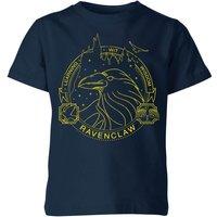 Harry Potter Ravenclaw Raven Badge Kids' T-Shirt - Navy - 11-12 Years - Navy