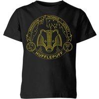 Harry Potter Hufflepuff Badger Badge Kids' T-Shirt - Black - 3-4 Years - Black