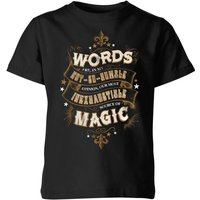 Harry Potter Words Are, In My Not So Humble Opinion Kids' T-Shirt - Black - 3-4 Years - Black