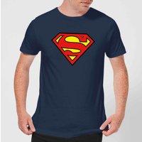 Justice League Superman Logo Mens T-Shirt - Navy - XXL