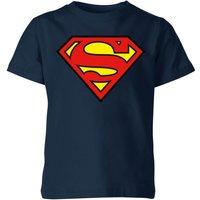 Justice League Superman Logo Kids' T-Shirt - Navy - 11-12 Years - Navy
