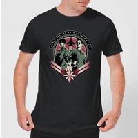 Captain Marvel Take A Risk Men's T-Shirt - Black - L - Black