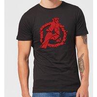 Avengers Endgame Shattered Logo Men's T-Shirt - Black - S - Black