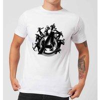 Avengers Endgame Hero Circle Men's T-Shirt - White - 5XL - White