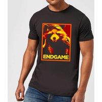 Avengers Endgame Rocket Poster Mens T-Shirt - Black - XXL - Black