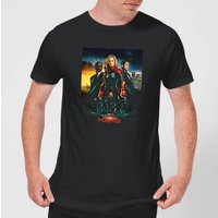 Captain Marvel Movie Starforce Poster Men's T-Shirt - Black - S - Black
