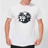 Captain Marvel Fury And Coulson S.H.I.E.L.D. Men's T-Shirt - White - 5XL - White