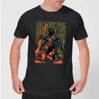 Marvel Avengers Black Panther Collage Men's T-Shirt - Black - L - Black