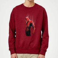 Marvel Spider-man Web Wrap Sweatshirt - Burgundy - S - Burgundy