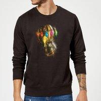 Avengers Endgame Infinity Gauntlet Warlord Sweatshirt - Black - M - Black
