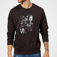 Avengers Endgame Mono Heroes Sweatshirt - Black - XL - Black