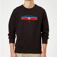 Captain Marvel Sending Sweatshirt - Black - XXL - Black