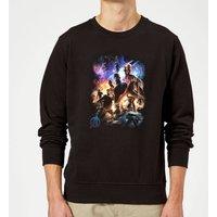 Avengers Endgame Character Montage Sweatshirt - Black - L - Black
