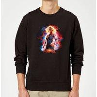 Captain Marvel Poster Sweatshirt - Black - XL - Black