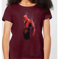 Marvel Spider-man Web Wrap Womens T-Shirt - Burgundy - XL - Burgundy
