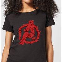 Avengers Endgame Shattered Logo Women's T-Shirt - Black - M - Black