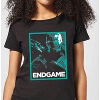 Avengers Endgame War Machine Poster Women's T-Shirt - Black - L - Black