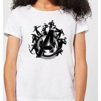 Avengers Endgame Hero Circle Women's T-Shirt - White - XL - White