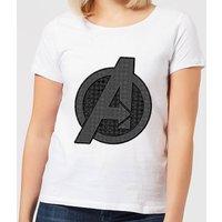 Avengers Endgame Iconic Logo Women's T-Shirt - White - 5XL - White