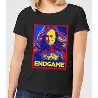 Avengers Endgame Captain Marvel Poster Women's T-Shirt - Black - 4XL - Black