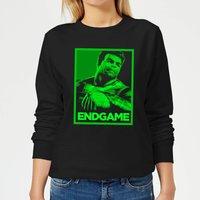 Avengers Endgame Hulk Poster Women's Sweatshirt - Black - XS - Black