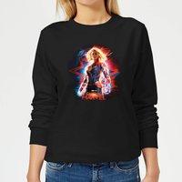 Captain Marvel Poster Women's Sweatshirt - Black - M - Black