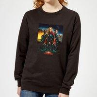 Captain Marvel Movie Starforce Poster Women's Sweatshirt - Black - M - Black