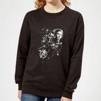 Avengers Endgame Mono Heroes Women's Sweatshirt - Black - S - Black