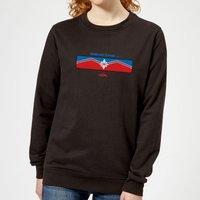 Captain Marvel Sending Women's Sweatshirt - Black - M - Black