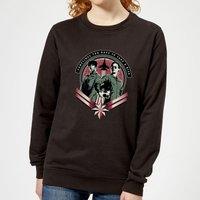 Captain Marvel Take A Risk Women's Sweatshirt - Black - M - Black