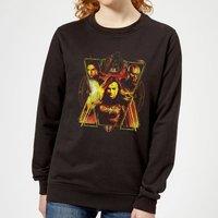 Avengers Endgame Distressed Sunburst Women's Sweatshirt - Black - L - Black