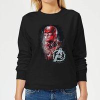 Avengers Endgame Captain America Brushed Women's Sweatshirt - Black - XXL - Black
