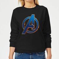 Avengers Endgame Heroic Logo Women's Sweatshirt - Black - L - Black